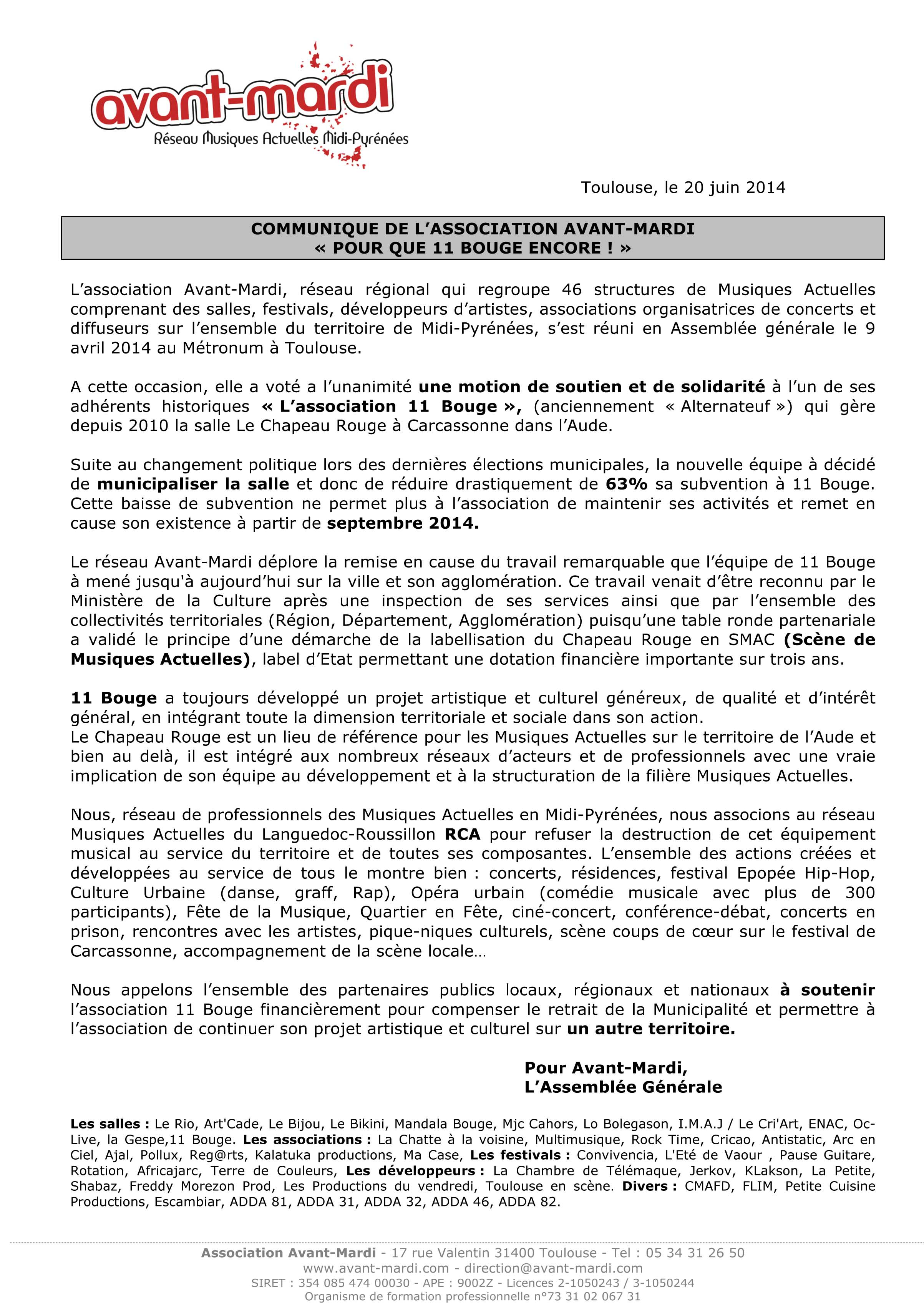 Collectif 11Mobilise Association 11bouge