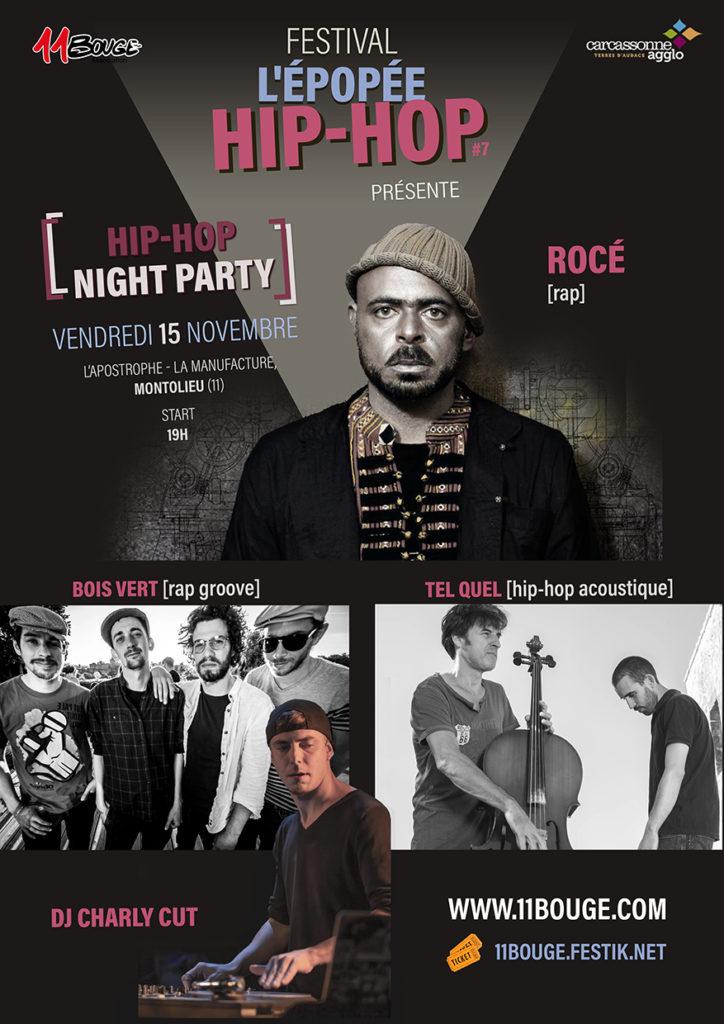 Epopée Hip-Hop night party à Montolieu