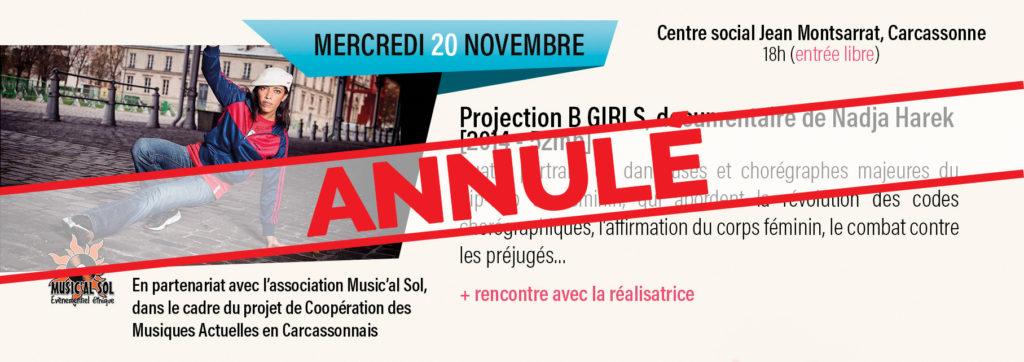Epopée Hip-Hop : Projection B GIRLS Annulée