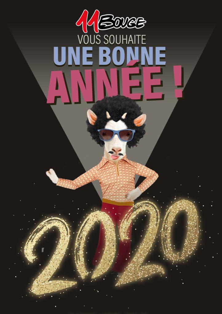 Meilleurs voeux 2020 Association 11Bouge