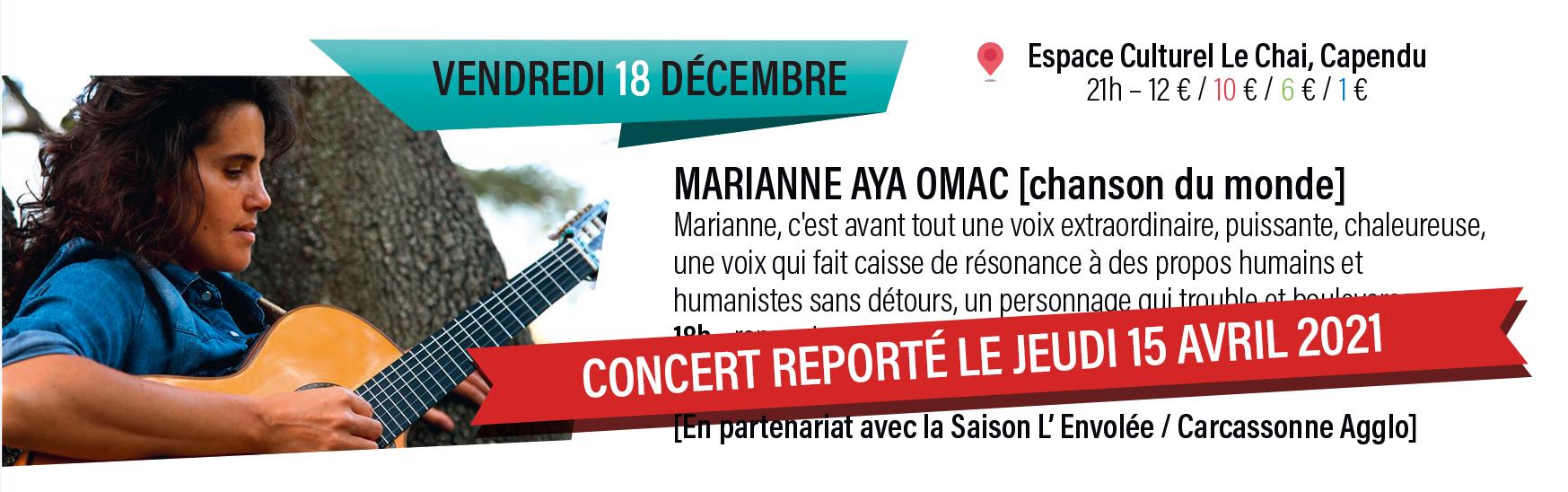 Concert de Marianne Aya Omac