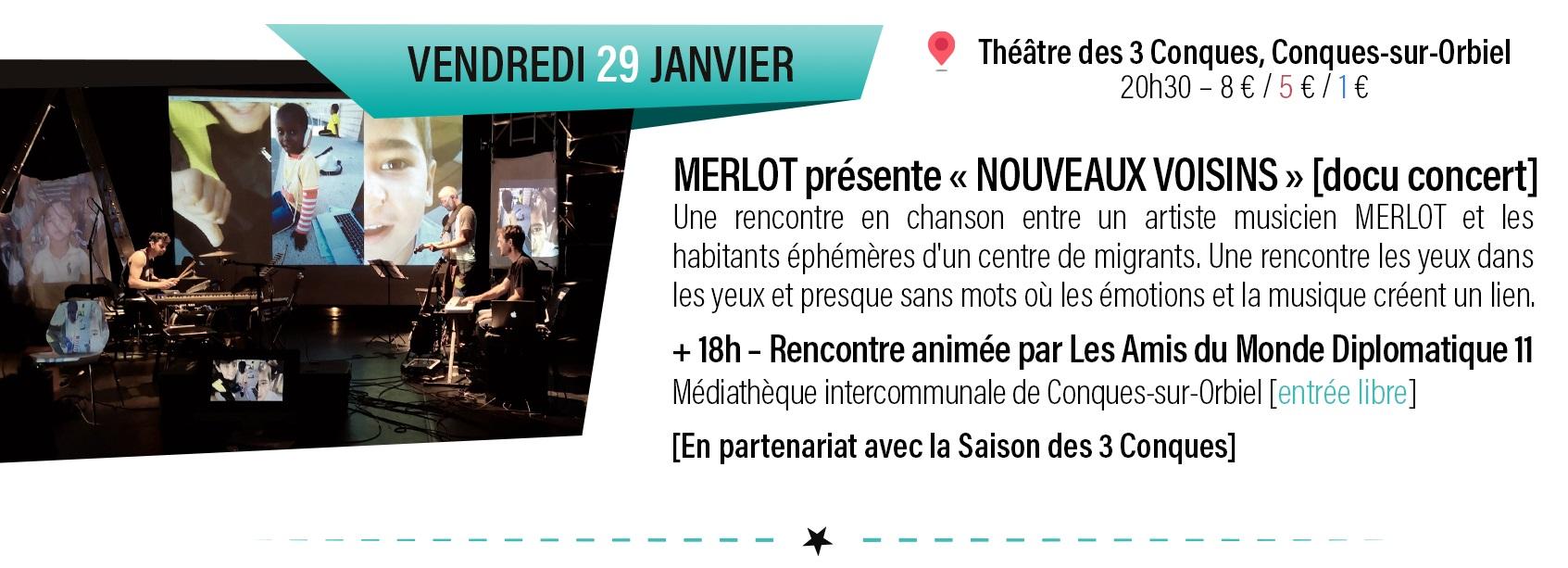 """concert Merlot presente : """"Nouveaux Voisins"""""""