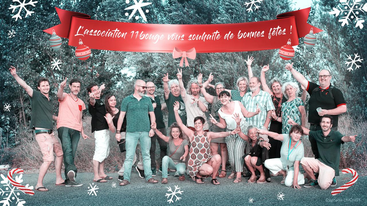 L'association 11Bouge vous souhaite de bonnes fêtes