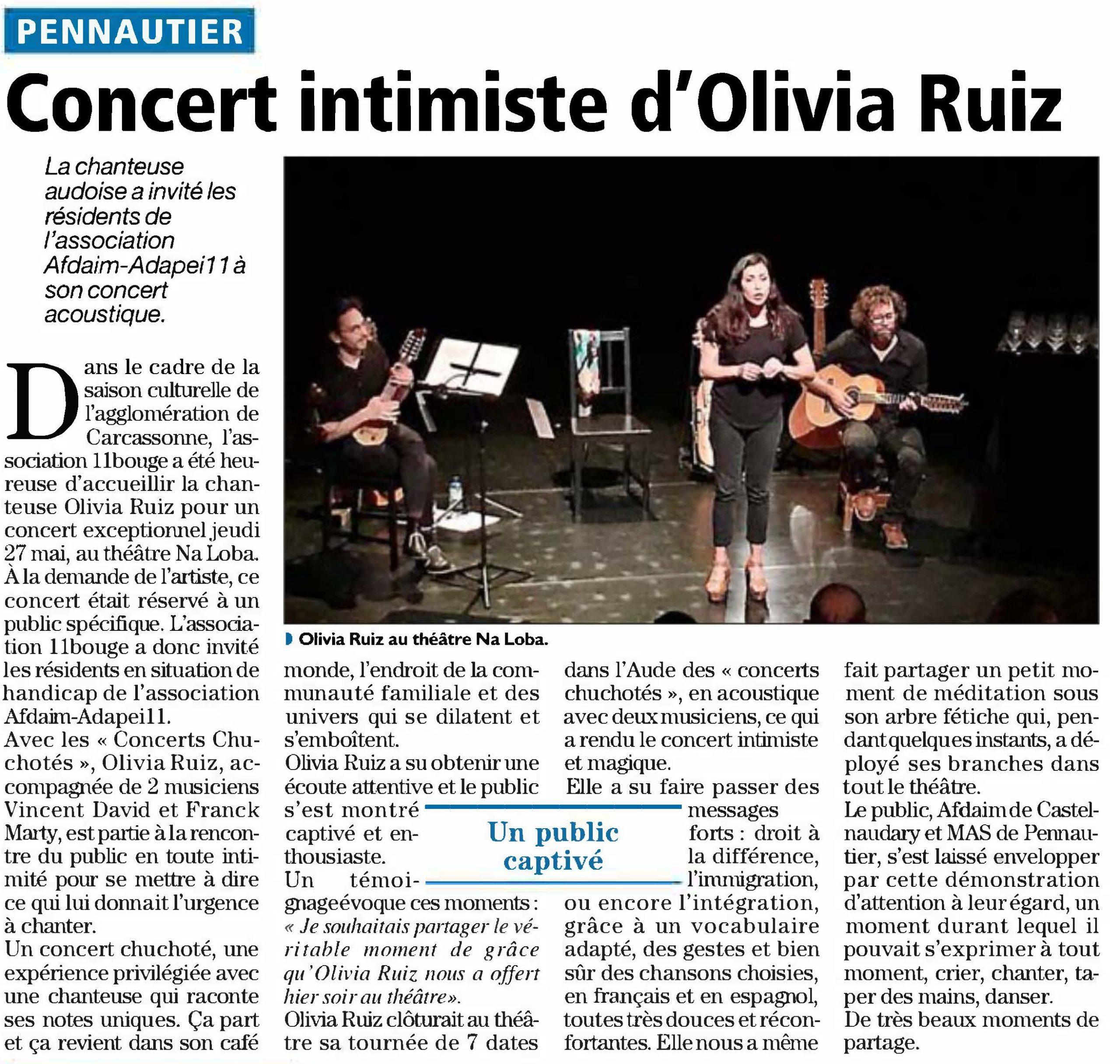 Concert intimiste Olivia Ruiz
