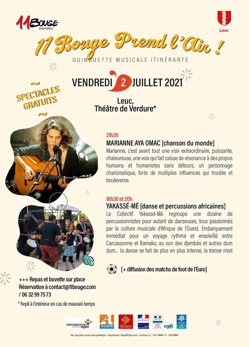 Concert Leuc 2 juillet 2021 Aya Omac + Yakassé-Mé