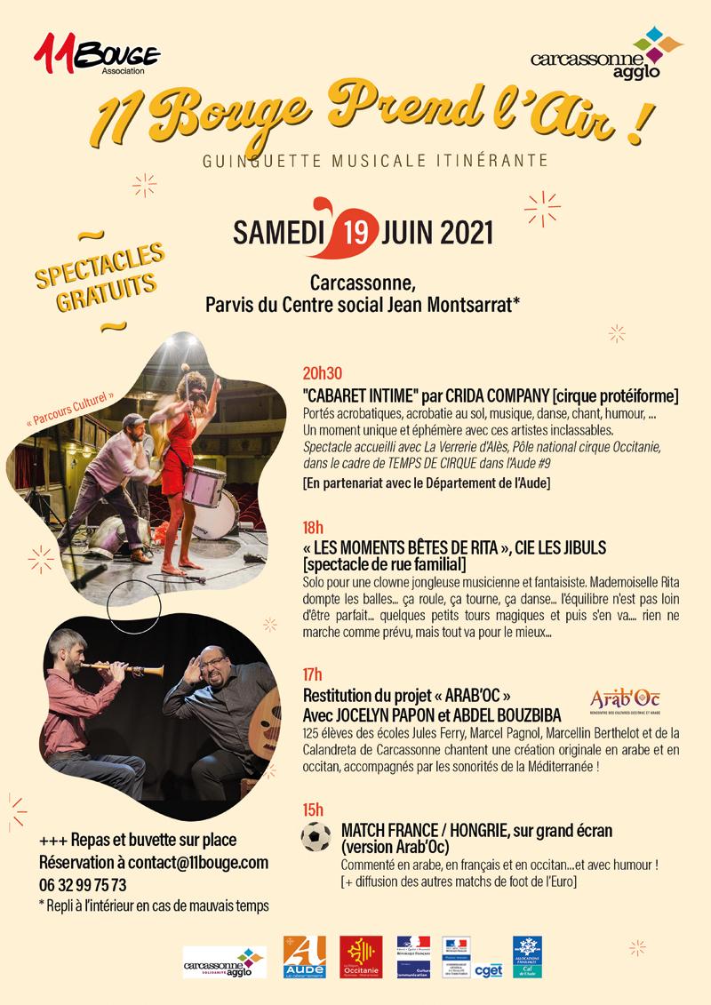 spectacle quartier carcassonne 19 juin 2021