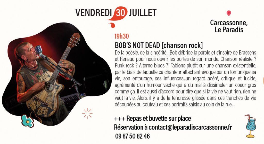 Bob's Not Dead au Paradis à Carcassonne