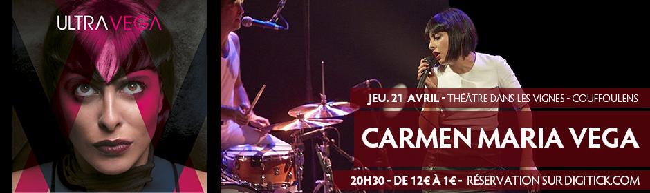 Concert de Carmen Maria Vega au théâtre dans les Vignes à Couffoulens