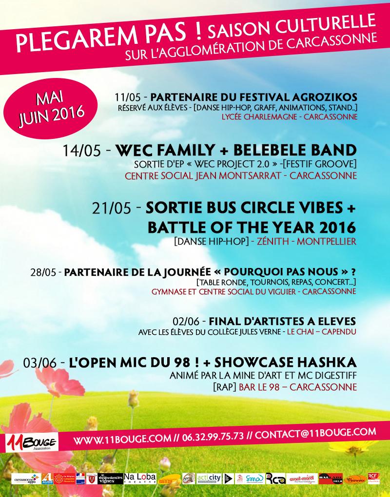 Affiche programme mai - juin 2016