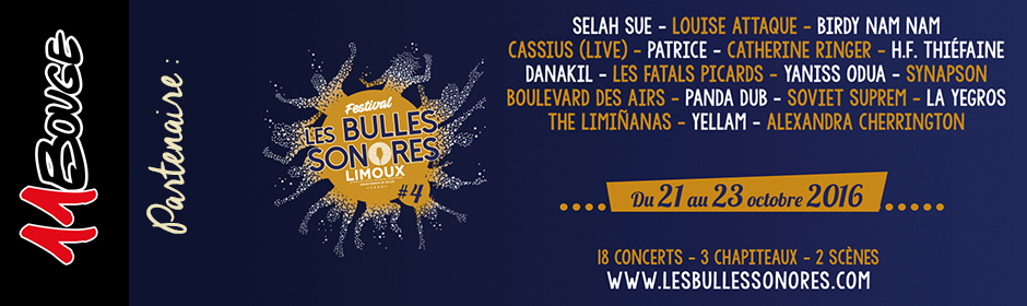 L'association 11Bouge partenaire du festival les Bulles Sonores à Limoux