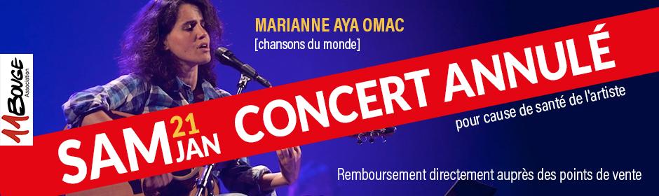 Concert Marianne 21 janvier 2017 Annulé