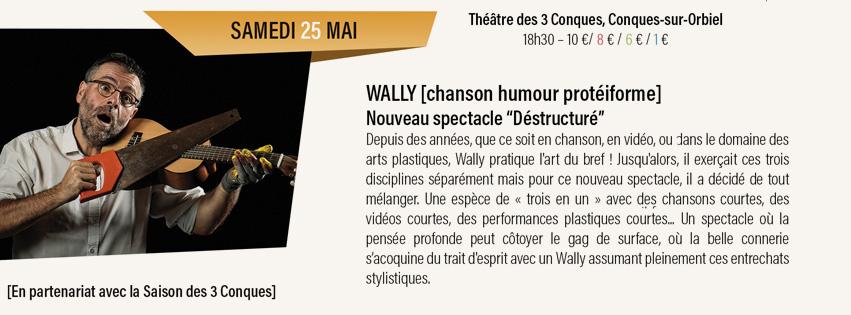 concert Wally Théâtre des 3 Conques, Conques-sur-Orbiel