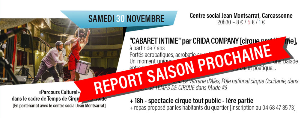 projet reporté Cabaret Intime
