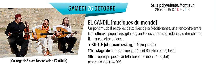 concert trio Al Candil Montlaur